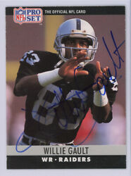 Willie Gault Autographed Signed 1990 Pro Set Card #153 Raiders 134767
