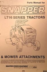 Snapper Lt/16 Riding Lawn Garden Tractor Mower And Snow Thrower Parts 2 Manuals