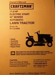 Sears Lt1000 Craftsman 17/42 Riding Lawn Tractor Ownerparts And Engine 2 Manuals