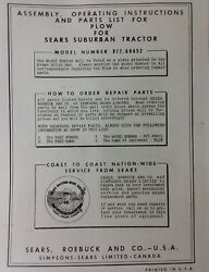 Sears Suburban Custom Garden Tractor Plow 3-point Disc Owner Parts 3 Manuals