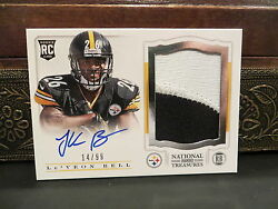 National Treasures Autograph Rookie Jersey Steelers Leand039veon Bell 14/99 2013