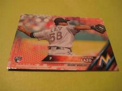 2016 Topps Mini Red Parallel 436 Raudel Lazo Marlins 1/5