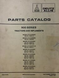 Allis Chalmers 910 912 914 916 917 919 Garden Tractor And Implements Parts Manual