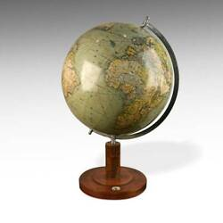 Terrestrial Political Globe With Compass Columbus Erdglobus Germany Dated 1940