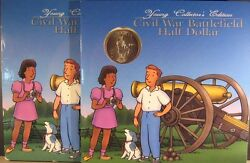 1995 Us Mint Young Collector Booklet Civil War Btfld W/coin Free Us Shipping