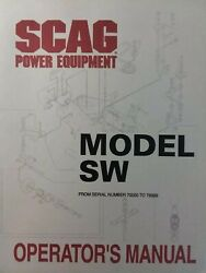 Scag Walk-behind Sw Lawn Mower Garden Tractor Owner And Parts Manual Sn70000-79999