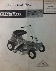 Wards 5hp Turf-trac Riding Lawn Mower Owner Parts And Engine 2 Manual S Zyj-77d