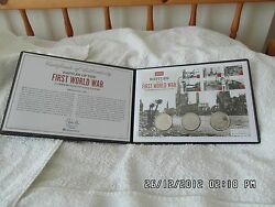 Rare Strict Ltd Ed 495 Battles Of The Ww1 Commemorative Andpound5 Stamp Coin Cover.