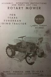 David Bradley 725 Garden Tractor, Mower And Engine Owner And Parts 3 Manuals Sears