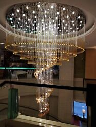 Top Modern Luxury Crystal Ceiling Fixture Lamps Chandelier Led Lighting Lights