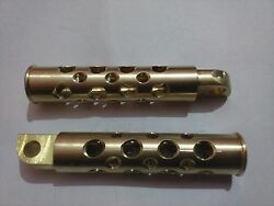 Brass Swiss Cheese Style Foot Peg Set For Harley Bsa Norton Ducati Ariel Indian