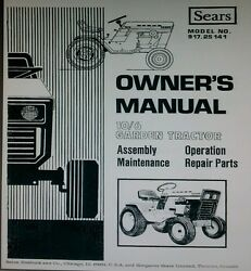 Sears Suburban 10/6 Lawn Garden Tractor And Implements Owner And Parts 4 Manual S