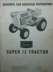Sears Suburban Ss/12 Tractor And Engine Ownerspartsservice 4 Manuals 917.25510