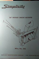 Simplicity Landlord Tractor Plow And Snow Thrower Owner And Parts 2 Manuals 10pg