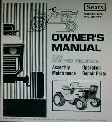 Sears Suburban 10/6 Garden Tractor And 42 Mower Imp Owner And Parts Manual Riding