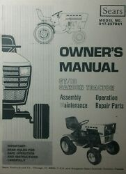 Sears Suburban Gt-18 Lawn Garden Tractor Owner Parts And Onan Service 2 Manuals