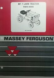 Massey Ferguson Mf 7 Lawn Garden Tractor And Attachments Master Parts Manual 108pg