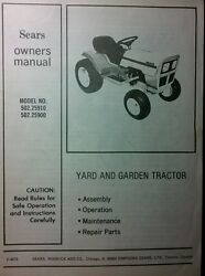 Sears Murray St8 St10 Lawn Garden Tractor And Mower Owner And Parts 2 Manual S