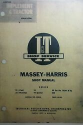 Massey-harris Shop Service Manual 21 Colt 23 Mustang 33 44 Special 55 Diesel Gas