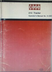 Case 210 Lawn Garden Tractor Operator Parts And Mower Manual 124pg 3 Books 1973