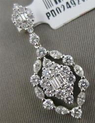 Fancy Diamond 14k White Gold Hanging Marquise Cluster Dangle Pendant Pd02492wk2
