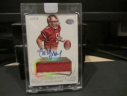Panini Flawless Gold On Card Autograph Jersey 49ers Steve Young 01/10 2015