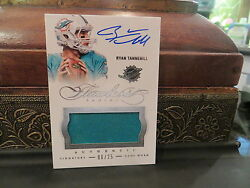 Panini Flawless Game Worn Autograph Jersey Dolphins Ryan Tannehill 06/25 2014