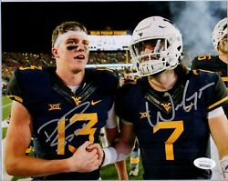 Will Grier And David Sills West Virginia Mountaineers Dual Signed 8x10 Photo Jsa