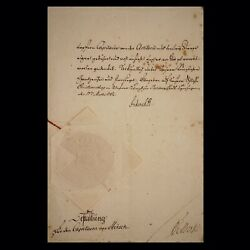 King Adolf Frederick V Denmark Signed Document Autograph Crown Dowton Abbey