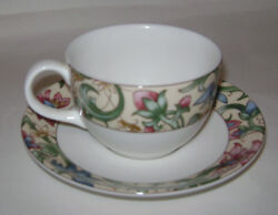 Royal Doulton Everyday Jacobean Coffee Tea 1 Cup And 1 Saucer Replacement Rare