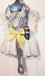 DOG HARNESS DRESS SET  DOGGIE DESIGN  CHA CHA COUTURE COLLECTION