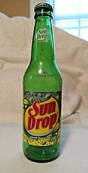 Vintage Sun Drop Bottle With Cap From Factory Empty-no Drink Error Collectible