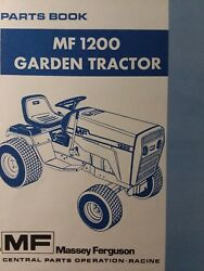 Massey Ferguson Mf 1200 Riding Lawn Garden Tractor And Mower Parts Manual Snapper