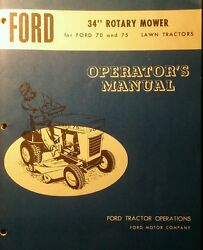 Ford 70 75 Lawn Tractor Mower Snow Plow Thrower Pto Owner Parts 4 Manual S
