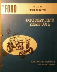Ford 70 75 Lawn Tractor Mower Snow Plow Thrower Pto, Owner Parts 5 Manual S