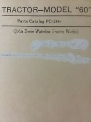 John Deere Agricultural Farm Tractor Model 60 Master Parts Manual Sn=6000001-up