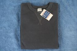 BUZZ RICKSON'S NWT 1930'S & 40'S LOOP-WHEELED SET-IN SLEEVES SWEATSHIRT BLACK XL