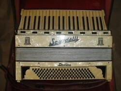 Vintage Scandalli Delfino Accordion Made In Italy 41 Keys 120 Bass With Case