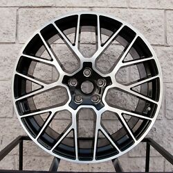 20 Porsche Macan S Turbo Mesh Style Staggered Wheels Tires Tpms Gts Black