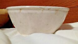 Mid 1800and039s Antique Early White Oval Ironstone Butter/cake Mold Sheaf Of Wheat