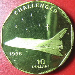 1996 Marshall Islands 10 Space Shuttle Challenger Nasa Mission Sts-6 1983 Rrr