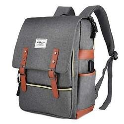 Puersit Charcoal Gray College Backpack – Holds 15 inch Laptop – New $27.95