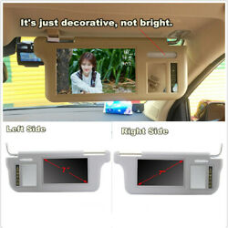 Left + Right 7 Car 2 Channel Video Sunvisor Rear View Mirror Screen Lcd Monitor