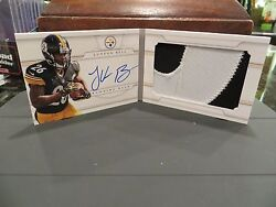 National Treasures Autograph Booklet Rookie Steelers Leand039veon Bell 25/49 2013