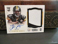 National Treasures Autograph Rookie Jersey Steelers Leand039veon Bell 24/25 2013