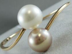 Modern 14mm White South Sea And Pink Pearl 18kt Rose Gold Bangle Bracelet B002005