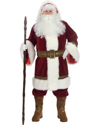 OLD TIME COMPLETE SANTA SUIT BY FUN WORLD VICTORIAN STYLE SANTA SUIT EMBROIDERED