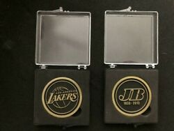 Jerry Buss Commemorative Two Coin Lot 1933-2013 Los Angeles Lakers Sga 1/27/19