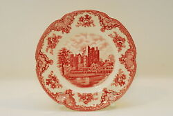 4 Johnson Brothers Old Britain Castles Pink Dinner Plate Plates 10 Inch