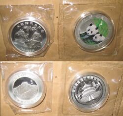 2008 China Big Panda To Taiwan 1oz Proof Pp Silver 2 Coins With Coa Rare And Sc